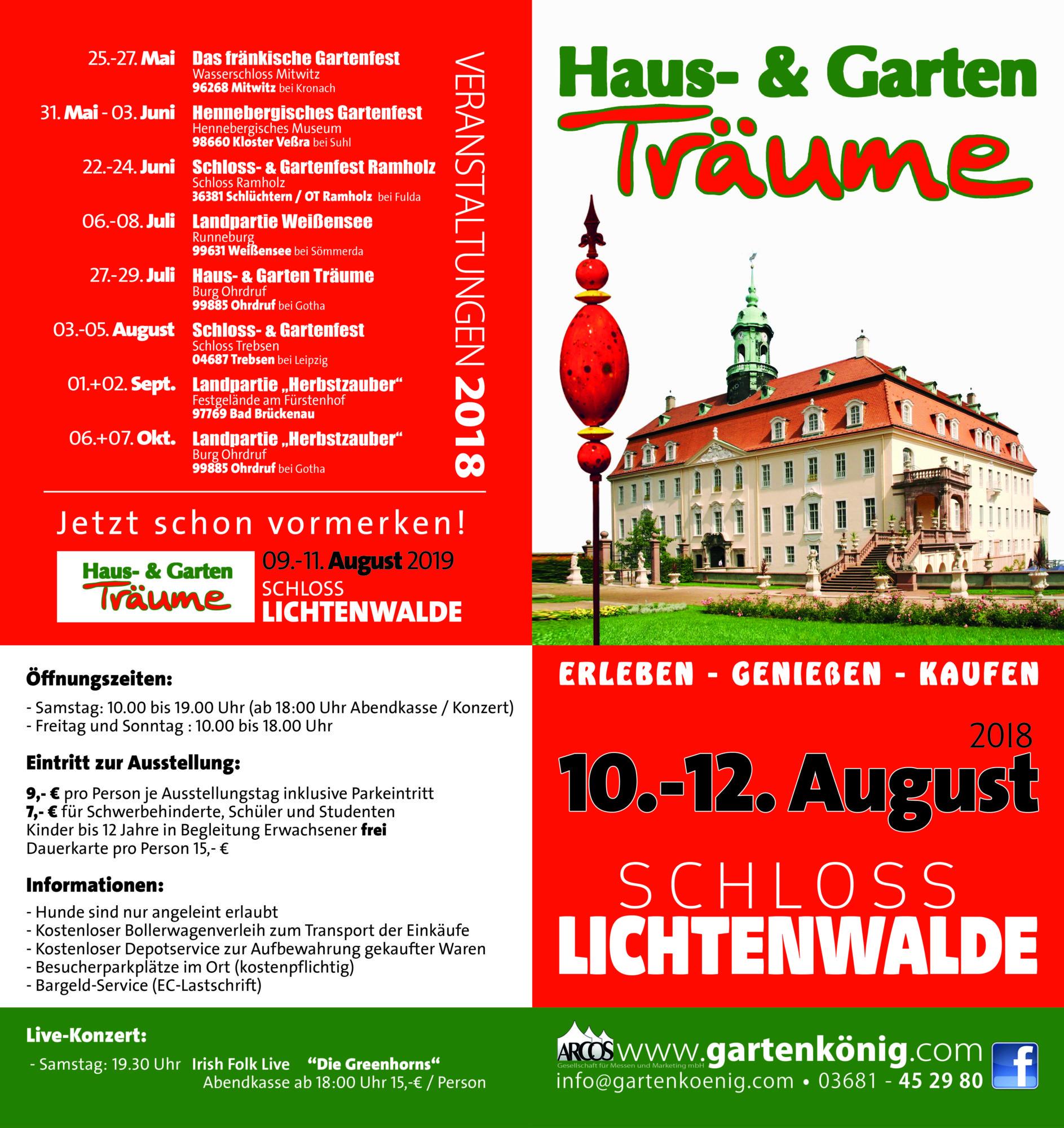 Haus- & Garten Träume Schloss Lichtenwalde – gartenkoenig.com